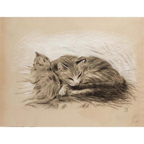 Mother and Kitten, Theophile Steinlen