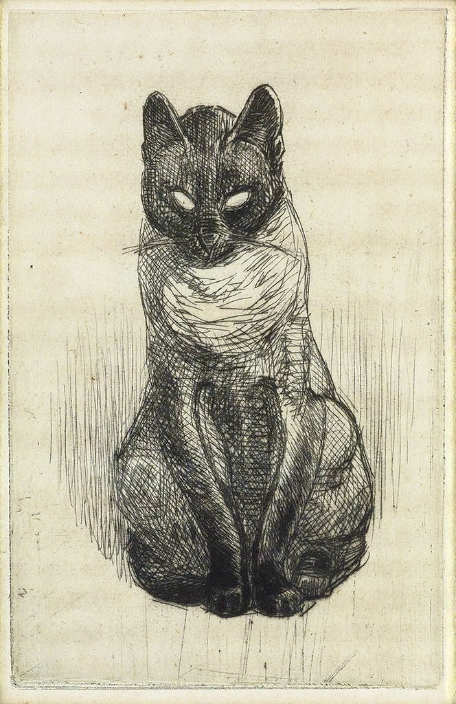 Petit Chat Siamois, Theophile Steinlen, 1914