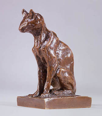 Seated Cat Statue, Theophile Steinlen
