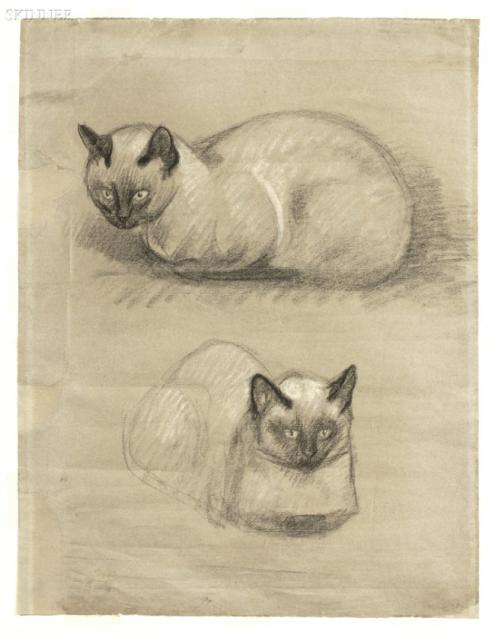 Siamese Cats, Theophile Steinlen