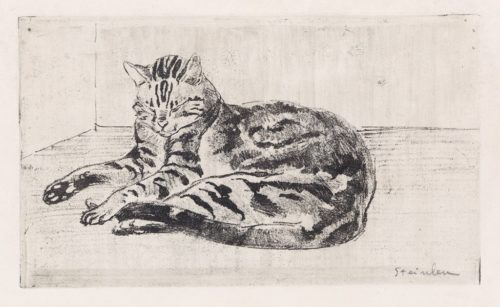 Tabby Cat Sleeping, Theophile Steinlen