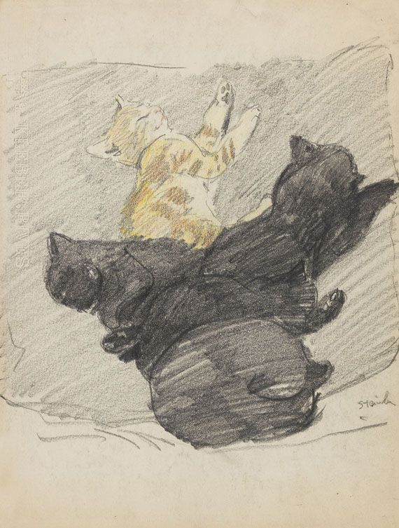 Theophile Alexandre Steinlen, Sleeping Cats 1915