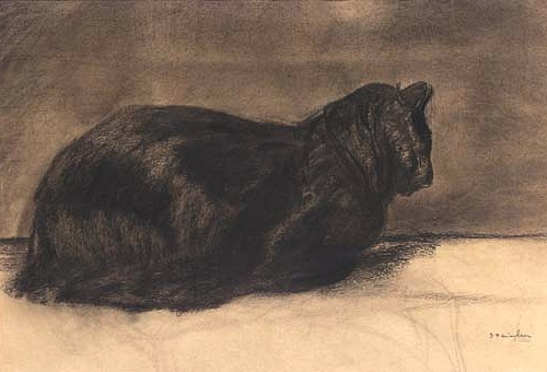 Theophille Steinlen, Sitting Black Cat