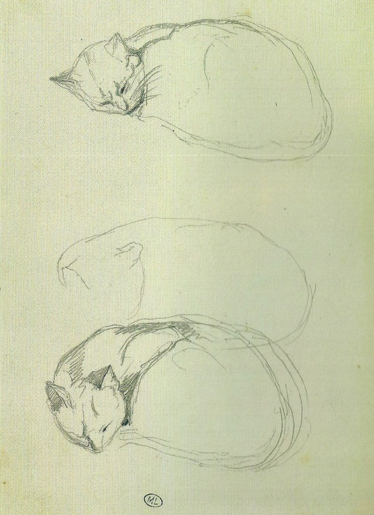 Three Cat Sketches, Theophile Steinlen