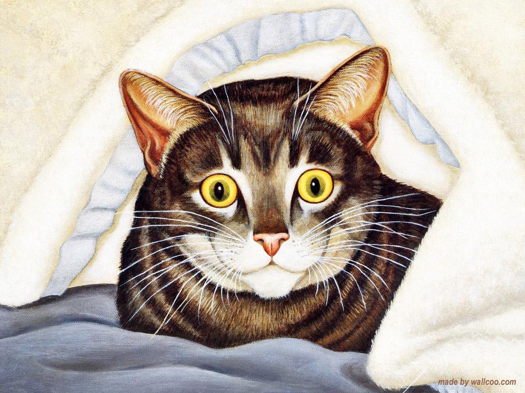 Cat Under the Blanket, Lowell Herrero