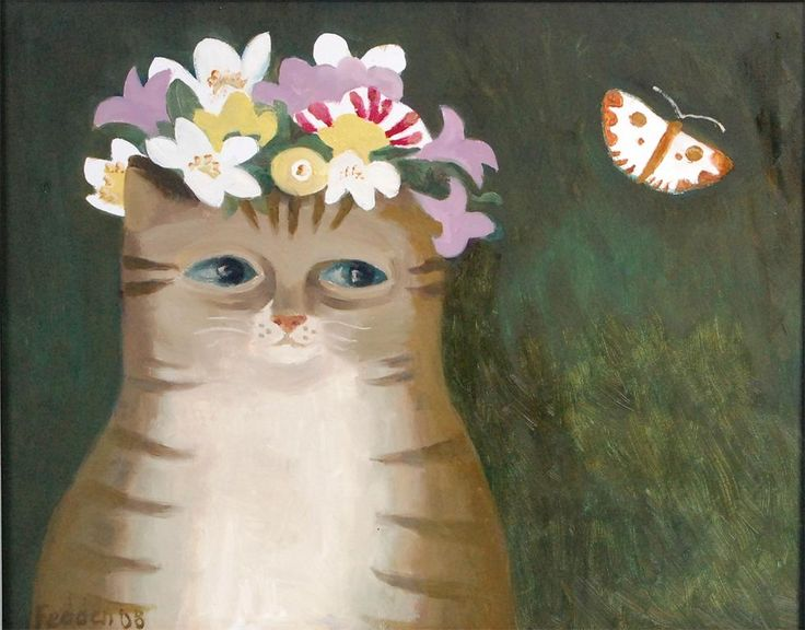 Cat and Butterfly, Mary Fedden