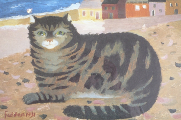 Mary Fedden Cat on Cornish Beach large