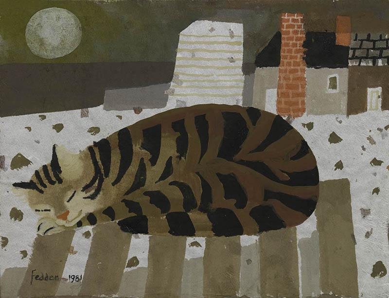 Sleeping Tabby, Mary Fedden
