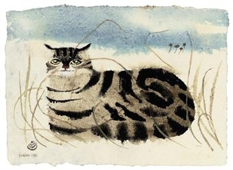 Tabby Cat on the Sand, Mary Fedden