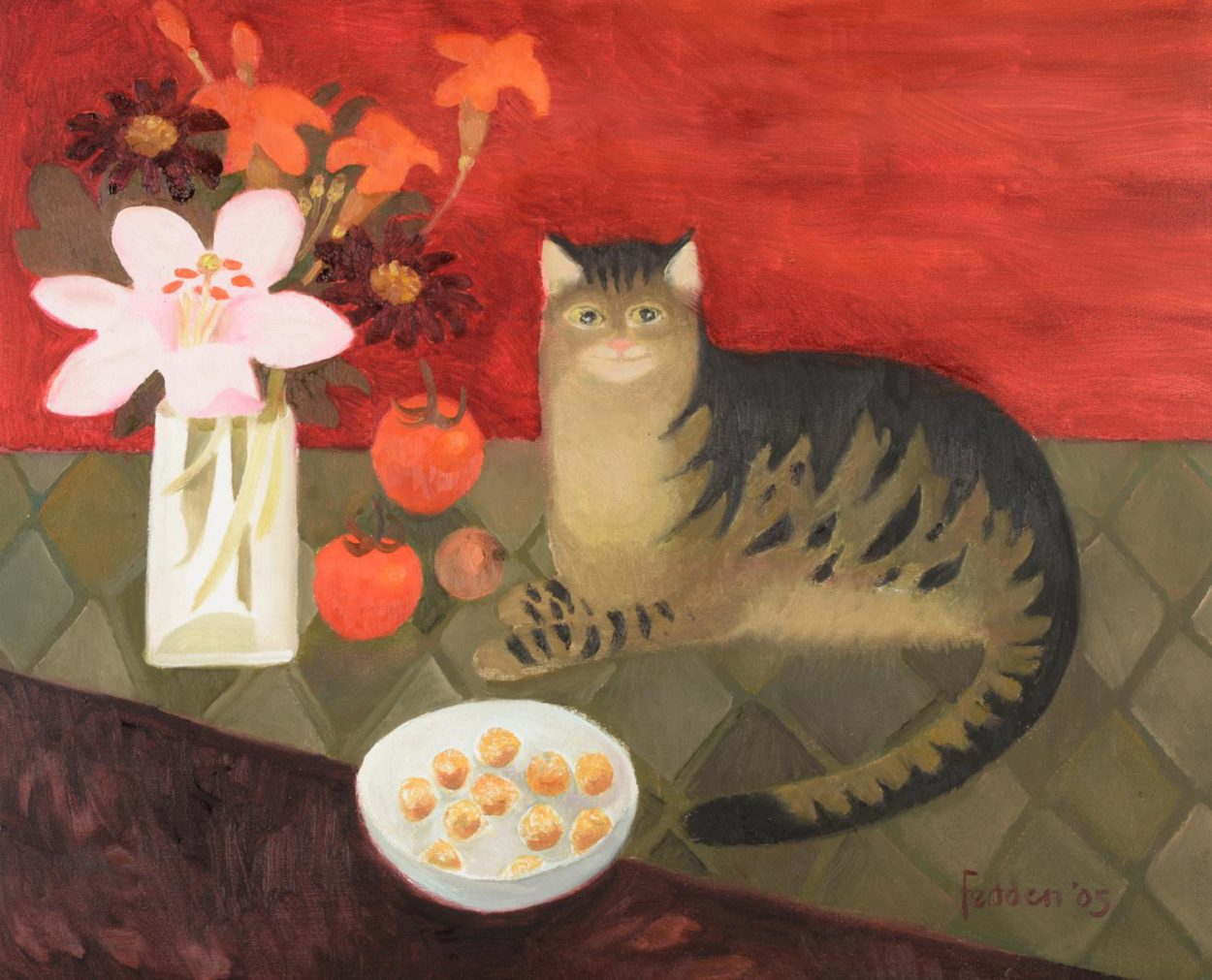 Tabby in Orange, Mary Fedden