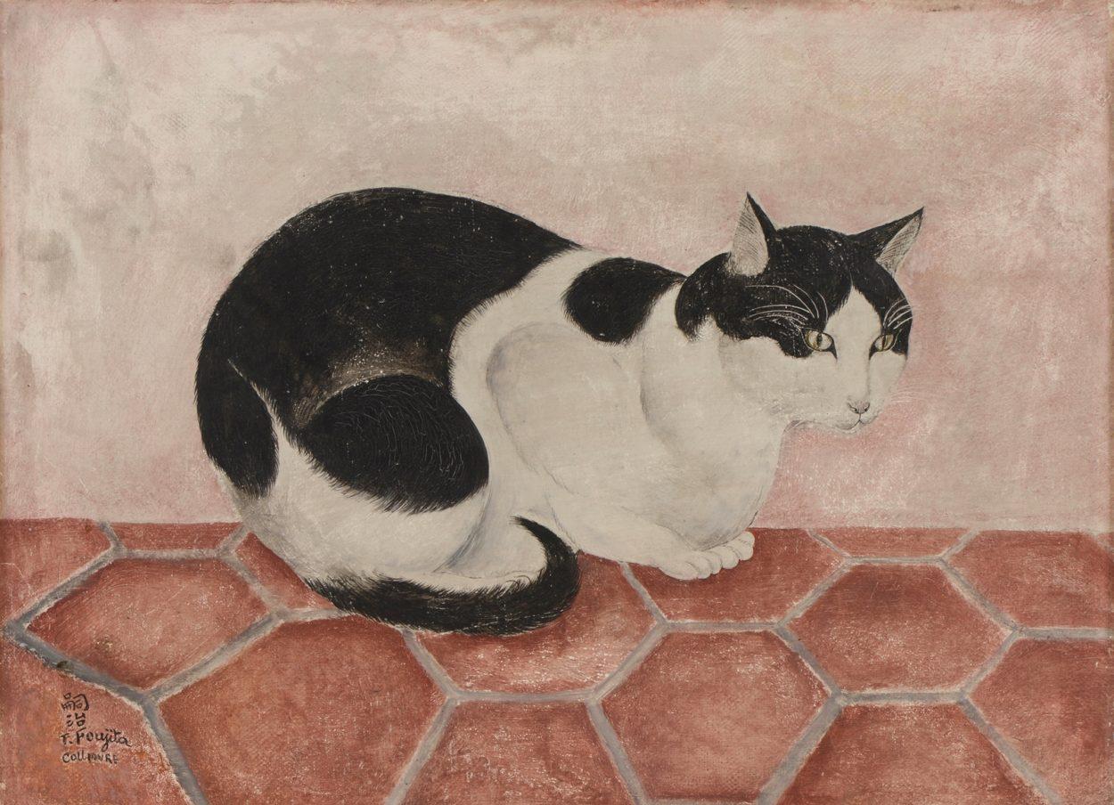 Black and White Cat, 1920, Foujita