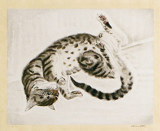Cat with Stomach Up, 1929 Foujita