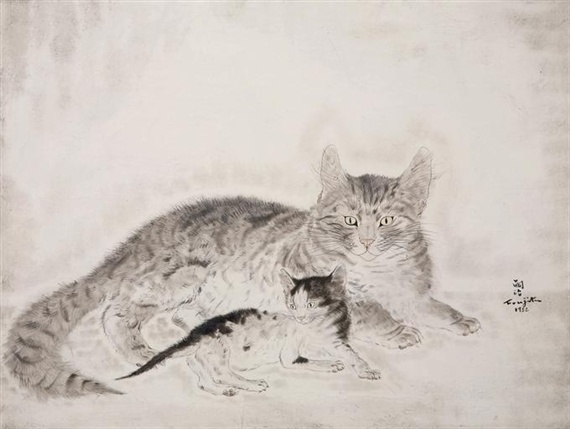 Chatte et chaton, Foujita