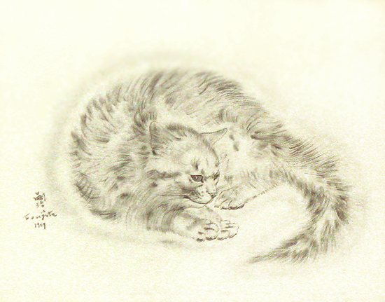Foujita, cat