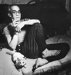 Foujita with cat photo