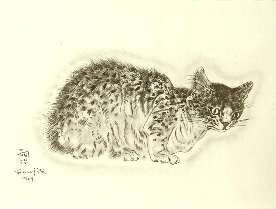 Fujita Tsuguharu (Leonard Foujita) A Book of Cats Sappho