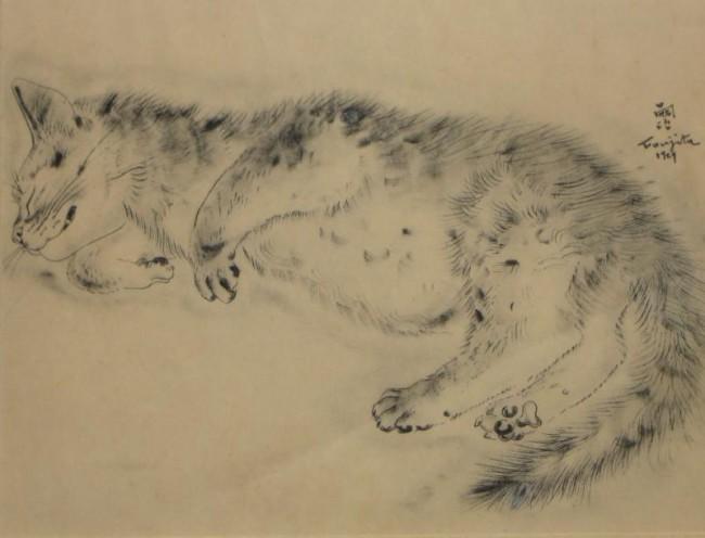 Sleeping Cat, 1929 Foujita