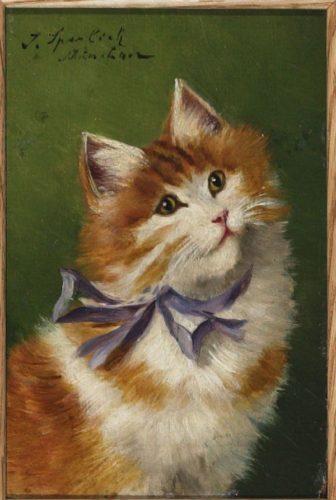 Sophie Sperlich Cat with Purple Ribbon