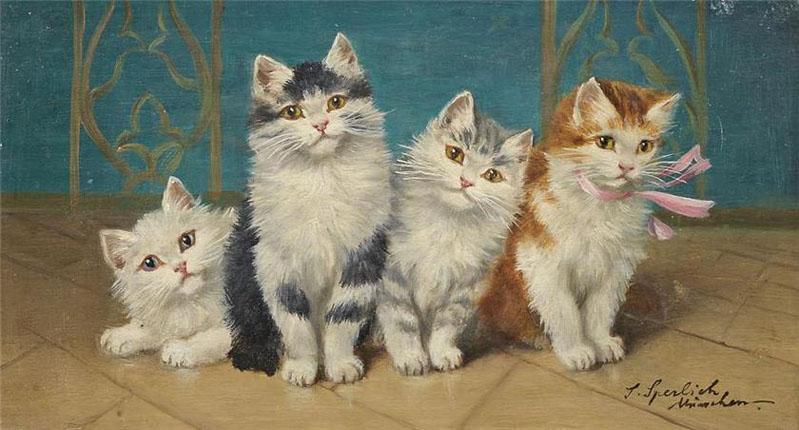 Sophie Sperlich, Four Kittens