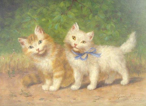 Sophie Sperlich, Two Standing Kittens