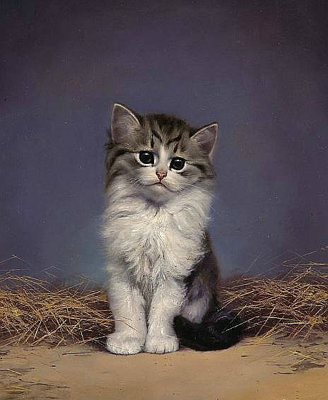 Tabby and White Kitten, Bessie Bamber