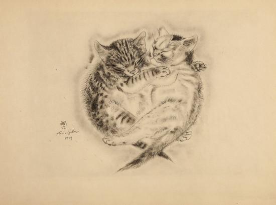 Tsugouharu Foujita, Two Kittens