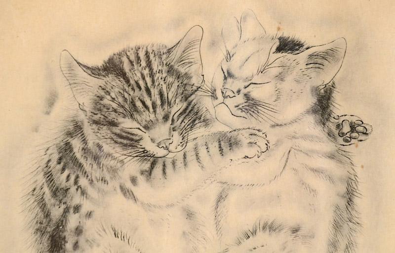 Two Sleeping Kittens, Tsugouharu Foujita