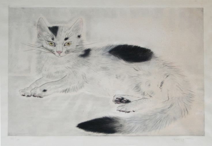 White and Black Cat, Tsugouharu Leonard Foujita