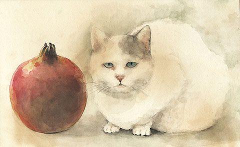 Midori Yamada15-Cat and Pomegranate