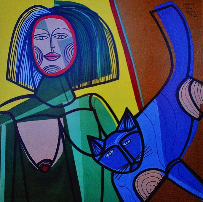 Carlos Páez Vilaró Woman and Cat