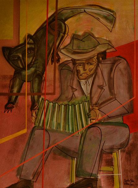 Carlos Paez Vilaro, Cat and Accordion Player