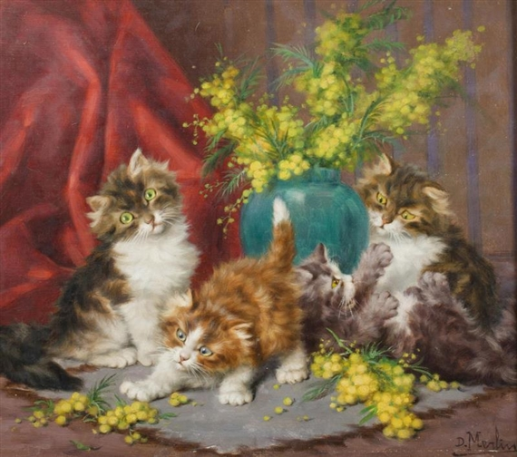 Frolicking Kittens, Daniel Merlin
