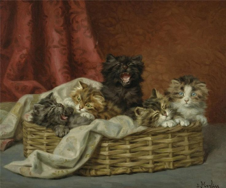 Kittens in a Basket, Daniel Merlin