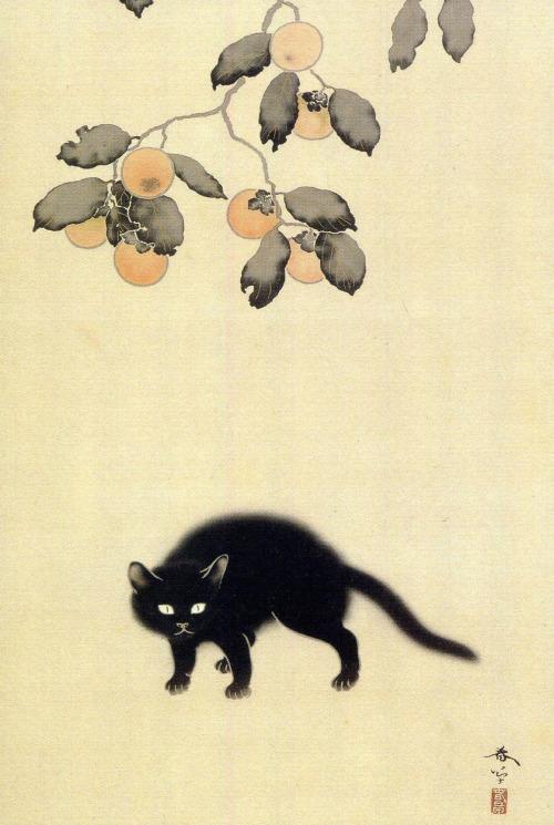 Detail, Black cat Hishida Shunso