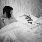 Bjork with Aby cat