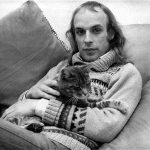 Brian Eno and cat