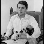 Burt Ward and cat, famous cat lovers