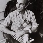 George Balanchine and cat