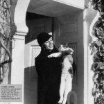 Greta Garbo and cat, famous cat lovers