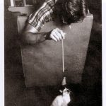 James Dean playing with kitten, famous cat lovers