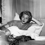 Lana Turner and cat, famous cat lovers