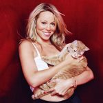 Mariah Carey and cat