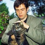 Peter Gabriel and cat