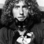 Roger Daltry and cat, famous cat lovers