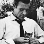 Sean Connery and kitten, famous cat lovers