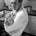 Steve McQueen and cat
