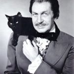 Vincent Price and cat, famous cat lovers