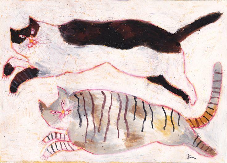 Miroco Machiko, Two Cats Playing