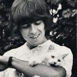 George Harrison and cat