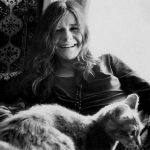 Janis Joplin and cat